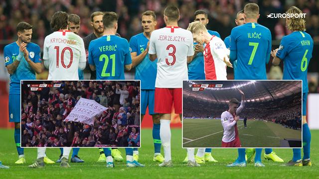 En legende takker af: Se de rørende billeder af Łukasz Piszczeks sidste minutter på Polens landshold