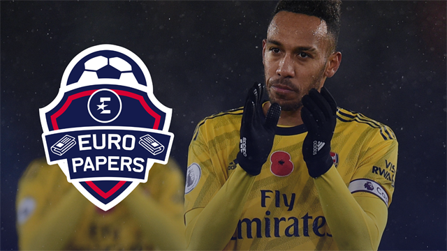 Spanish giants chase new Arsenal captain Aubameyang - Euro Papers