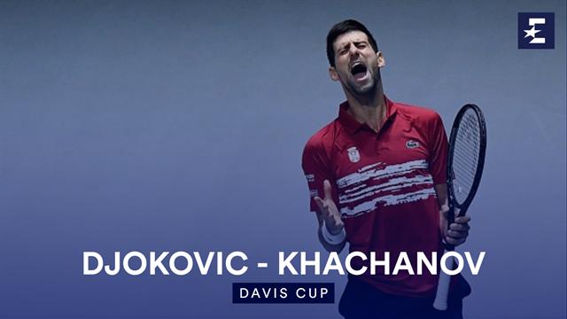 Highlights: Djokovic beats Khachanov to give keep Serbia in Davis Cup