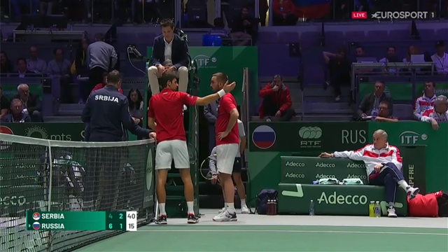 'Why did you do that?' - Djokovic and Troicki furious over line call
