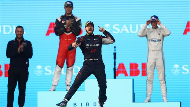 Bird wins Formula E opener with Porsche and Mercedes on podium