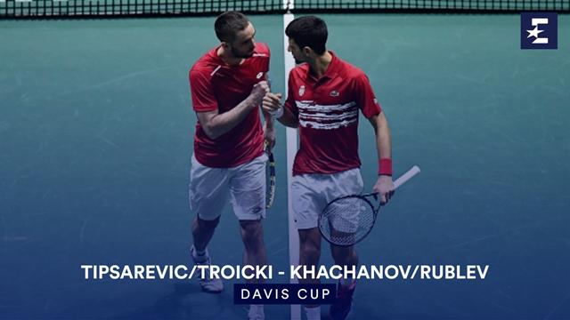 Höjdpunkter: Tipsarevic/Troicki - Khachanov/Rublev