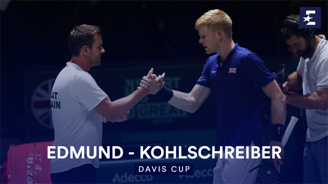 Highlights: Edmund storms past Kohlschreiber to give GB lead