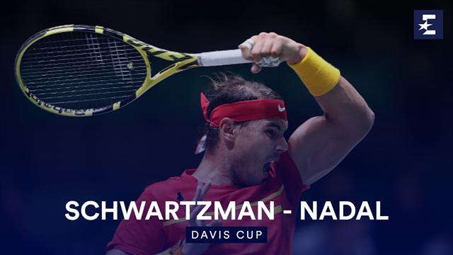 Irresistible Nadal thrashes Schwartzman to level tie with Argentina