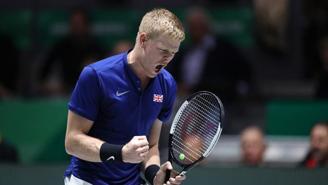 Edmund crushes Lopez to give GB semi-final lead over Spain