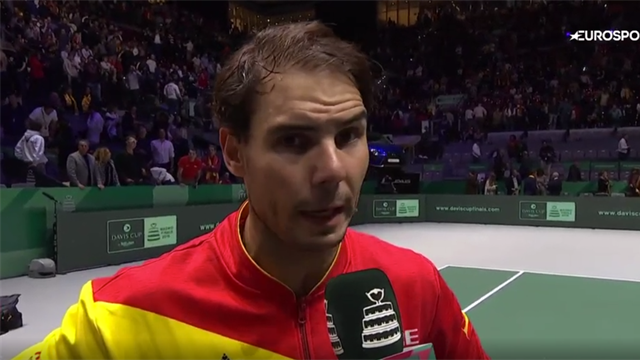 'I played great' - Nadal 'super happy' with semi-final win over Evans