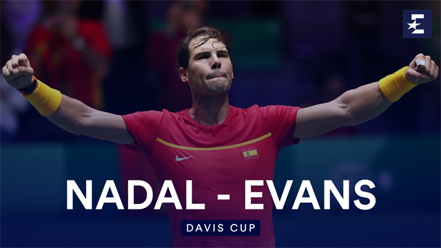 Highlights: Nadal too good for GB's Evans as Spain level semi-final
