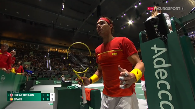 Nadal unleashes furious tirade after missed call