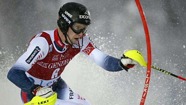 Clément a plané sur la 1re manche du slalom
