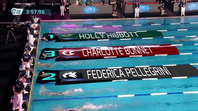 ISL: Federica Pellegrini seconda nei 400 stile libero, vince Holly Hibbott