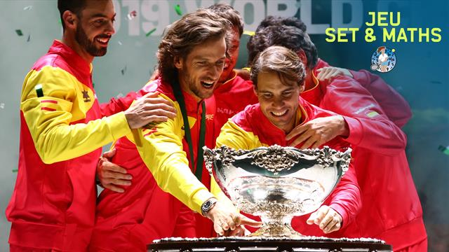 Rafael Nadal and his Spain team-mates get their hands on the Davis Cup