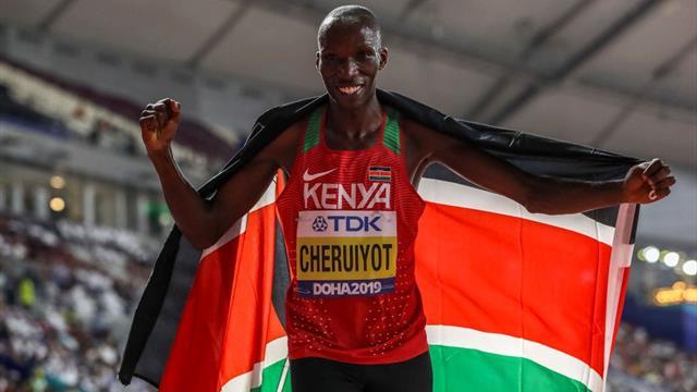 Olympic hopeful Cheruiyot pushed by fellow Kenyan Manangoi