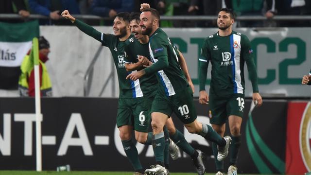 Europa League, Ferencváros-Espanyol: Darder vale un primer puesto (2-2)