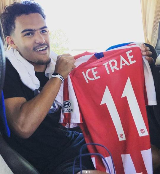 Trae Young, Atletico Madrid formasıyla