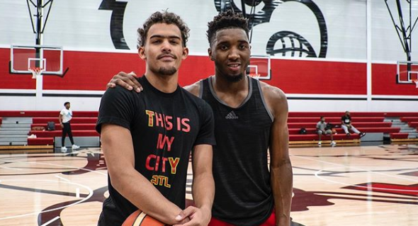 Trae Young ve Donovan Mitchell