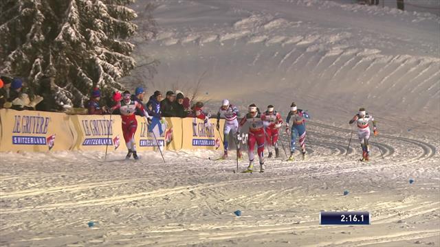 Falla wins women's sprint