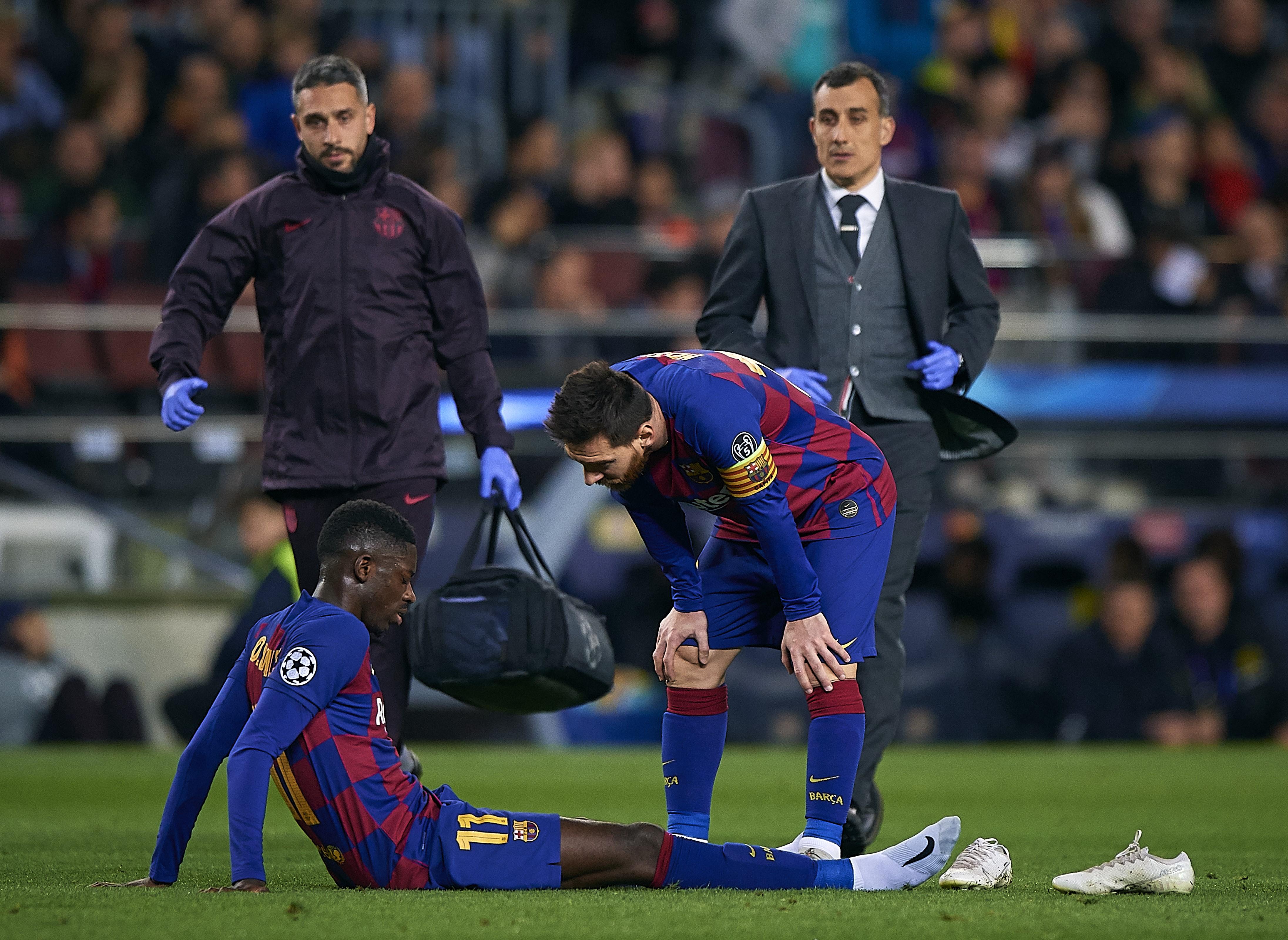 Ousmane Dembélé ve Lionel Messi