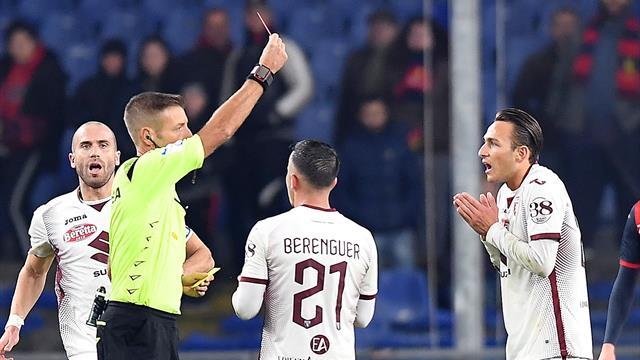 Le pagelle di Genoa-Torino 0-1: segnali di vita da Verdi, male Sturaro. Edera si fa cacciare in 7'