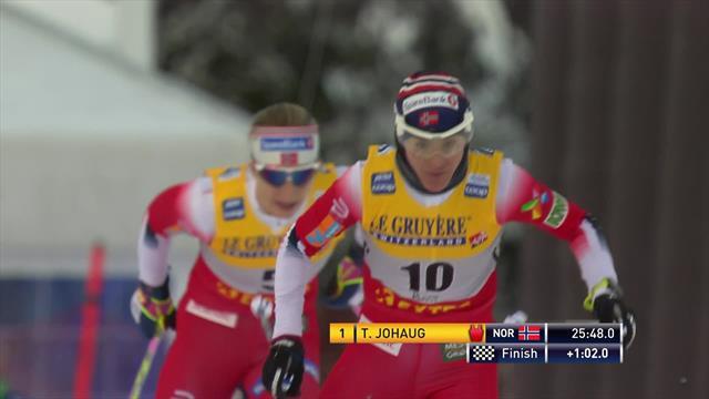 World Cup Ruka | Volledig Noors podium met Johaug aan de leiding