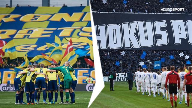 Se begge holds derby-tifo samt Brøndbys tifo inden anden havleg!