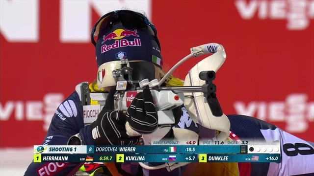 Wierer wins women's sprint in Sweden