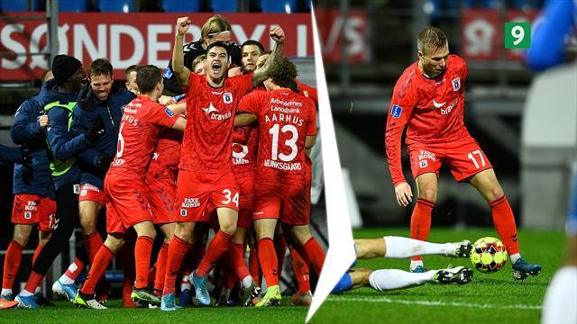 Highlights: Vanvittig afslutning mellem Esbjerg og AGF giver århusianerne 3. pladsen