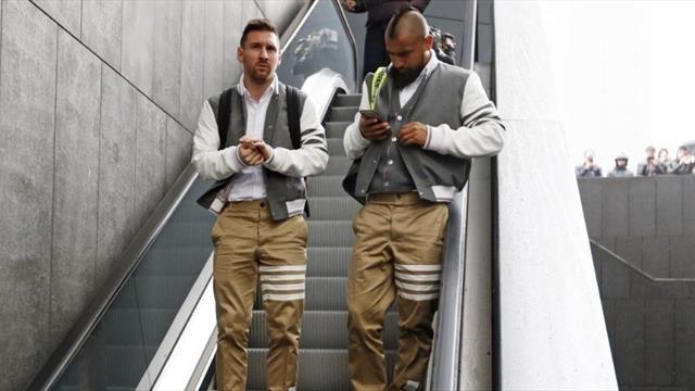 La curiosa indumentaria con la que aterrizó el Barça en la capital antes de medirse al Atlético