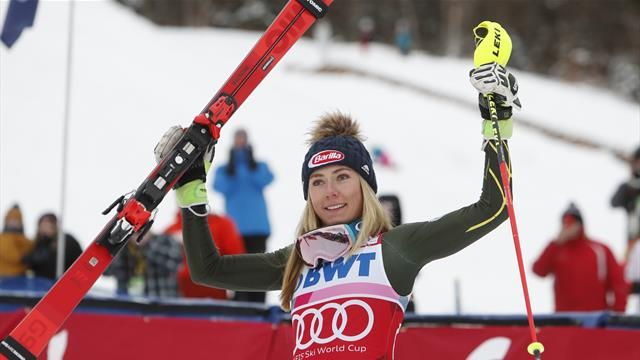 Sensational Shiffrin storms to slalom victory in front of home fans
