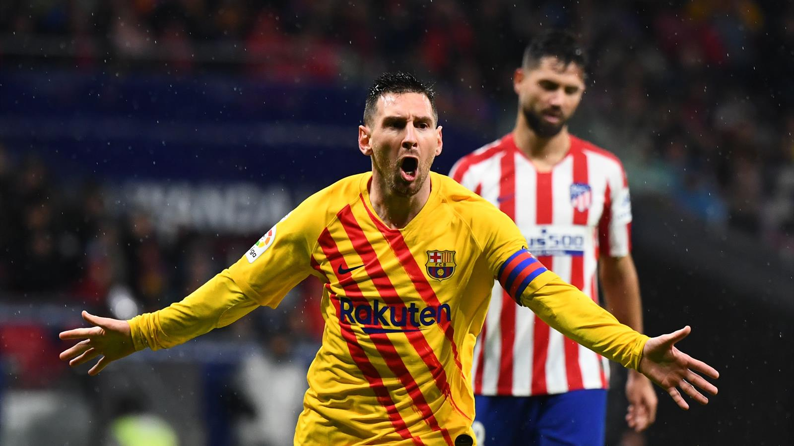 La Liga   Lionel Messi schießt den FC Barcelona bei ...