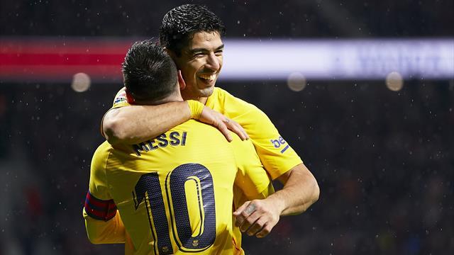 "Simeone : ""On ne peut qu'applaudir Messi et Suarez"""