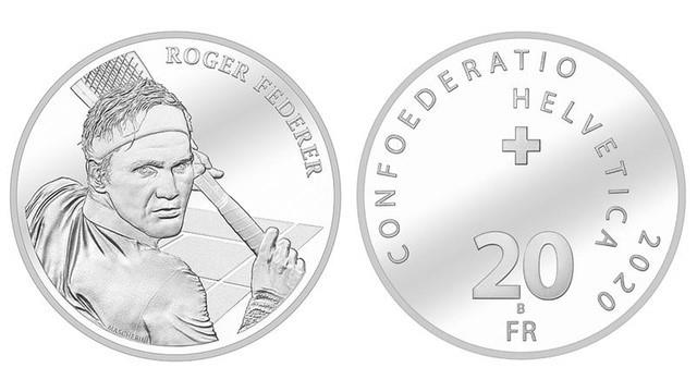 Federer posts 'thank you' video after Swiss coin minted in his honour