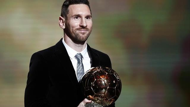 Messi wins sixth Ballon d'Or ahead of Ronaldo and Van Dijk