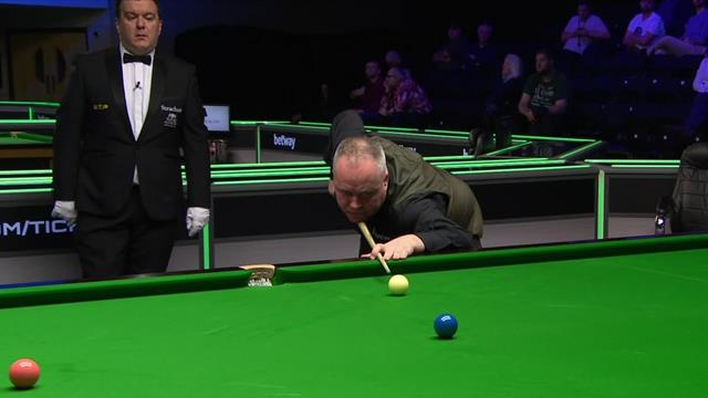 John Higgins underlines class with 124 clearance to the pink