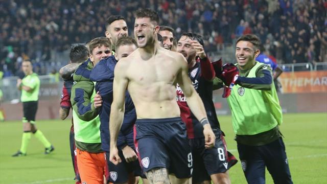 Cagliari, rimonta da sogno con la Sampdoria: da 1-3 a 4-3, decide Cerri al 96'