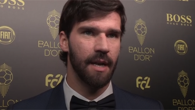 Alisson: 'It's great for a goalkeeper to make the Ballon d'Or top ten'