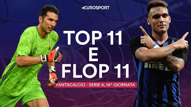 Fantacalcio: la Top 11 e la Flop 11 della 14a giornata