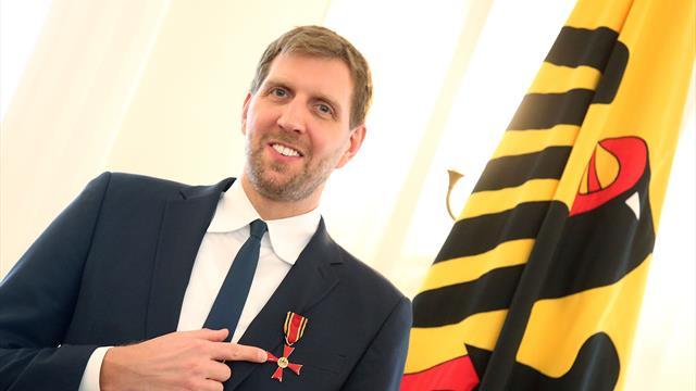 """""""Eine große Ehre für mich"""": Nowitzki erhält Bundesverdienstkreuz"""