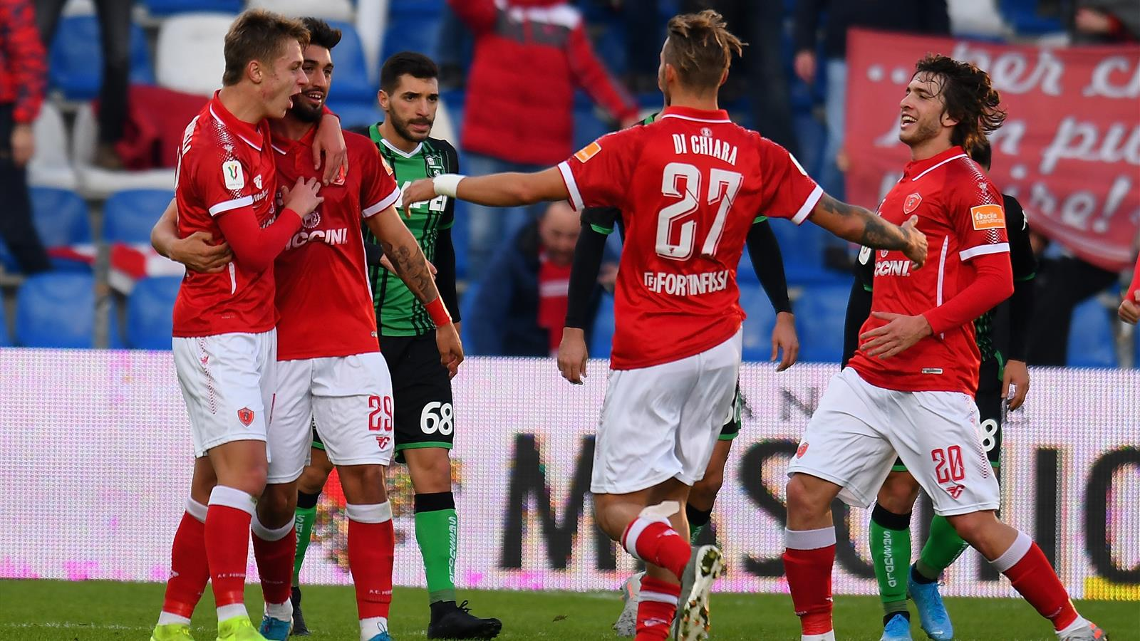 Coppa Italia, Sassuolo-Perugia 1-2: Mazzocchi e Nicolussi ...