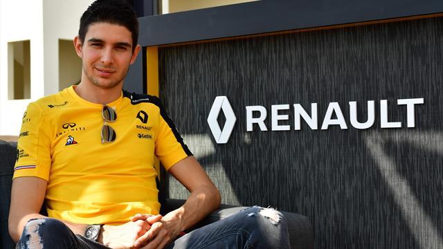 Jaune de plaisir, Ocon retrouve la piste avec Renault