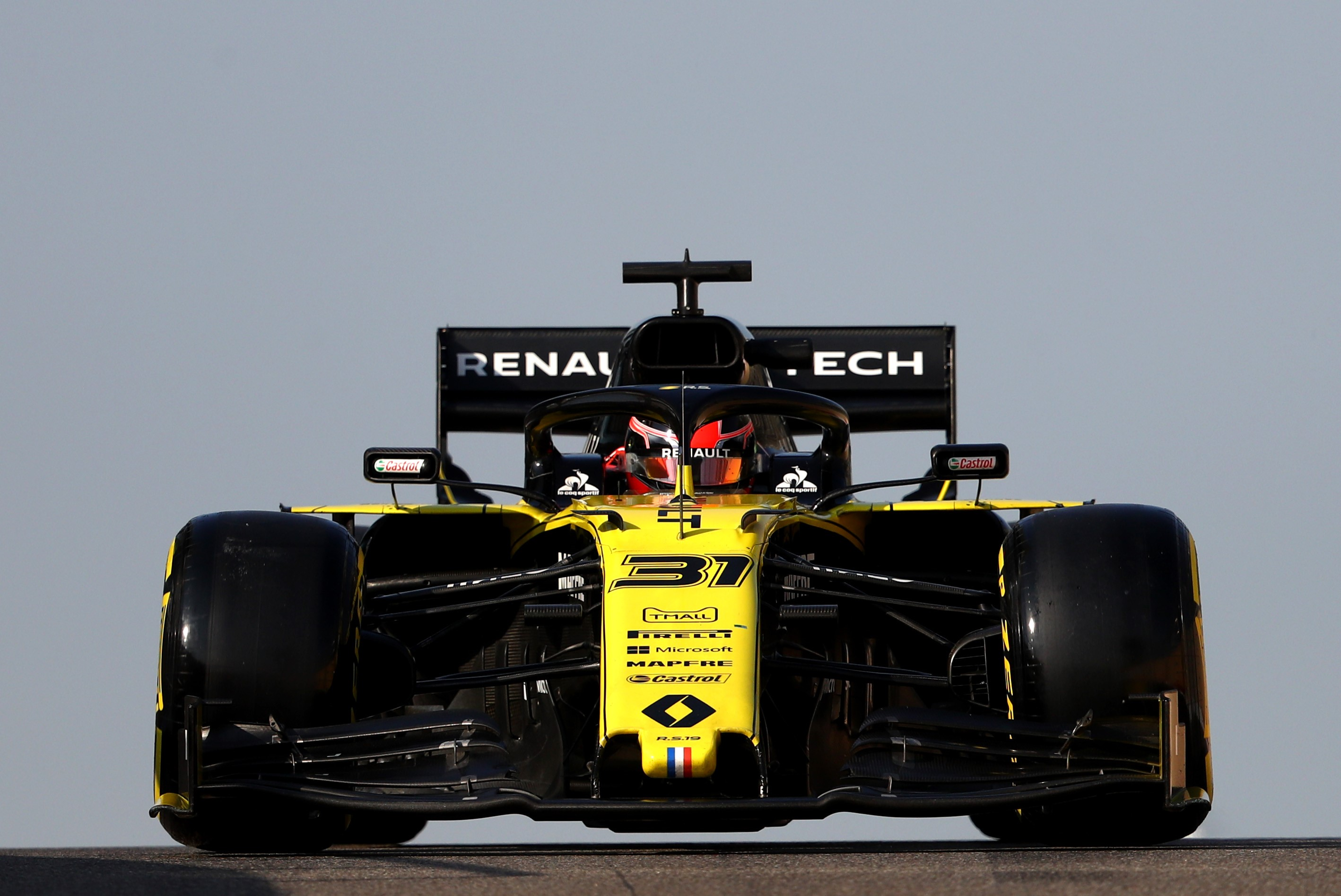 Esteban Ocon en piste avec Renault.