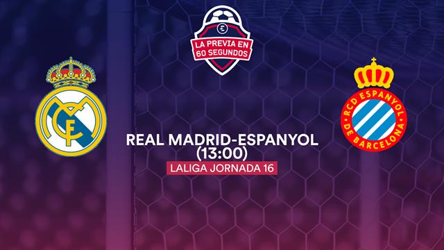 """La previa en 60"""" del Real Madrid-Espanyol: La 'Unidad B' a escena (13:00)"""