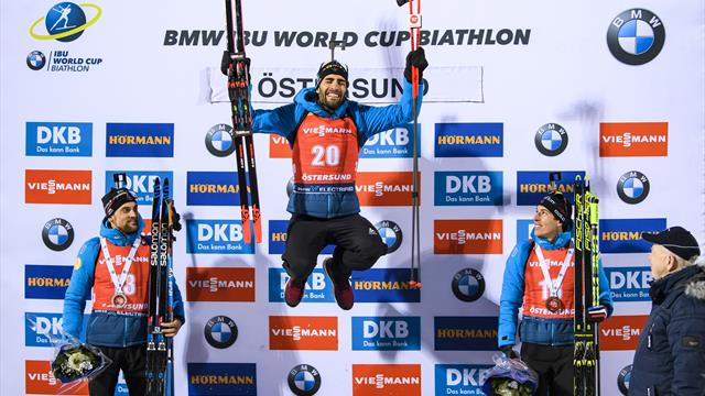 Biathlon World Cup: Fourcade back on top as France lead men's 20km individual