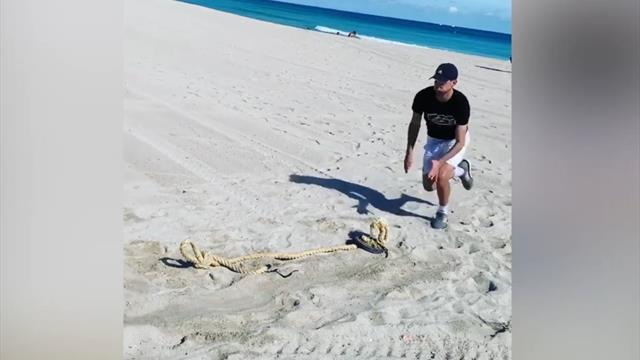 Las (no) vacaciones de Thiem en Miami: Entrenamiento militar preparando el 2020