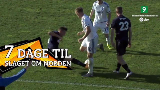 Gense Markus Rosenbergs vilde benbrækker-tackling på Nicolai Jørgensen