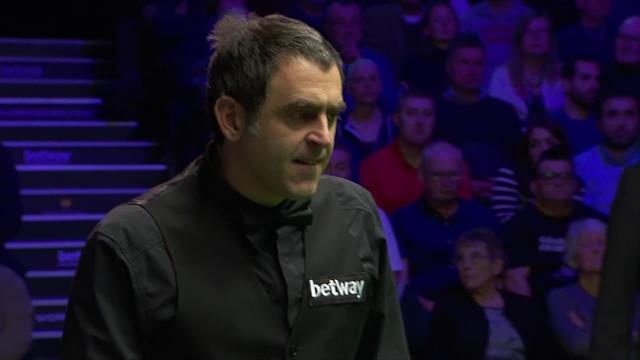 UK Championship: Afortunado golpe de O'Sullivan, buscaba esa y acabó entrando en otra tronera