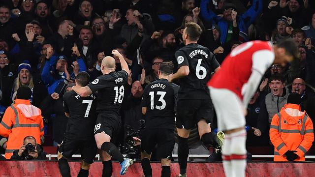 Abject Arsenal beaten at home by Brighton