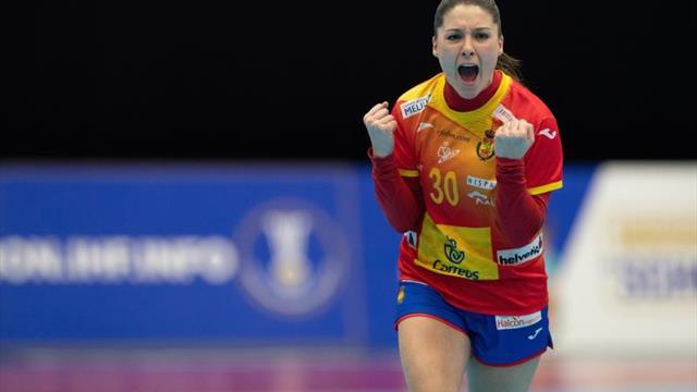 Mundial femenino, Montenegro-España: Victoria en el último segundo de Las Guerreras (26-27)