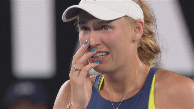 Relive the moment Wozniacki won her first Slam at Australian Open