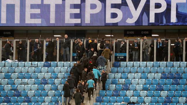 Фанаты «Зенита», «Динамо», «Арсенала» и «Локо» ушли с трибун в знак протеста против задержаний