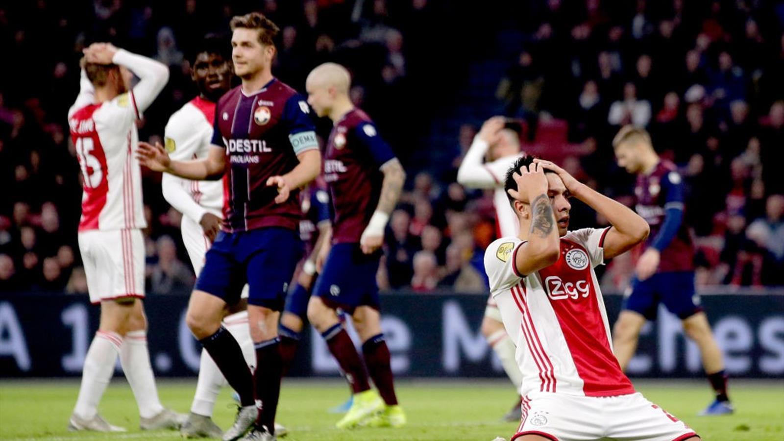 Prima sconfitta in campionato per l'Ajax: solo Juventus e Liverpool ...